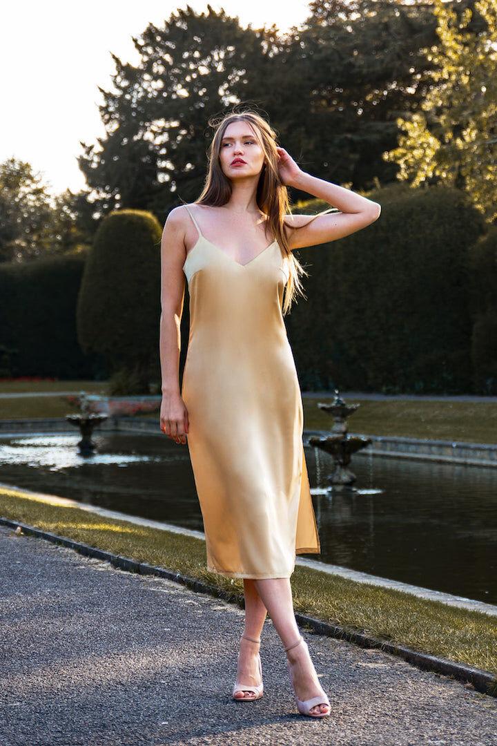 IDentity Lingerie Olivia Silk Dress - X-Large / Pink