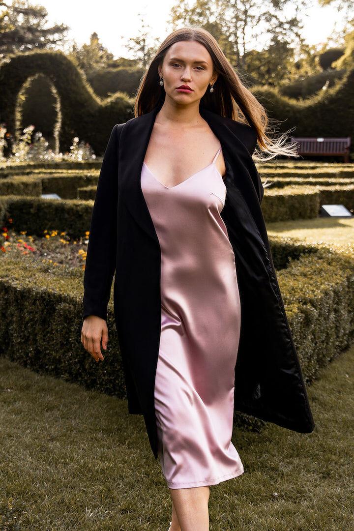 IDentity Lingerie Olivia Silk Dress - Small / Black