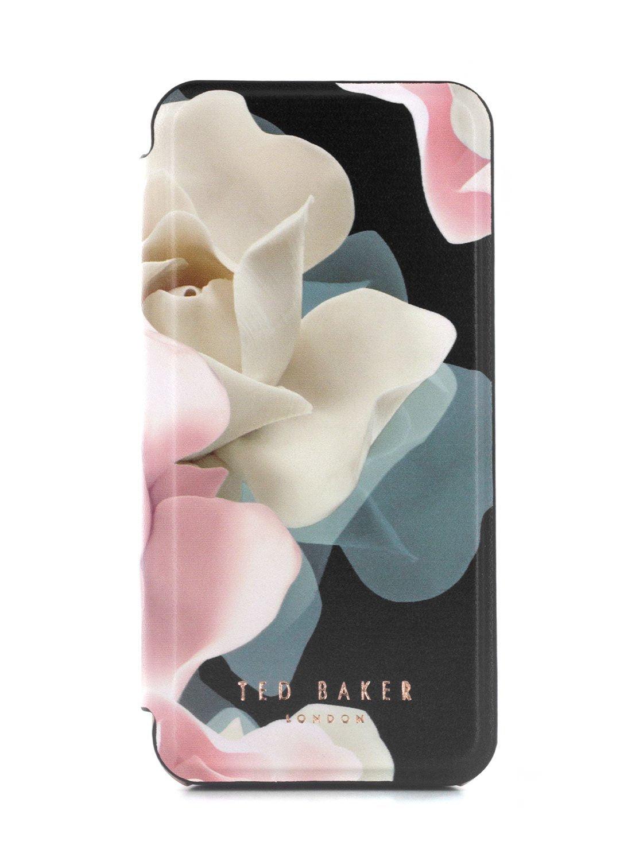 Ted Baker Folio Case for iPhone 5 / 5S / SE - Porcelain Rose (Black)