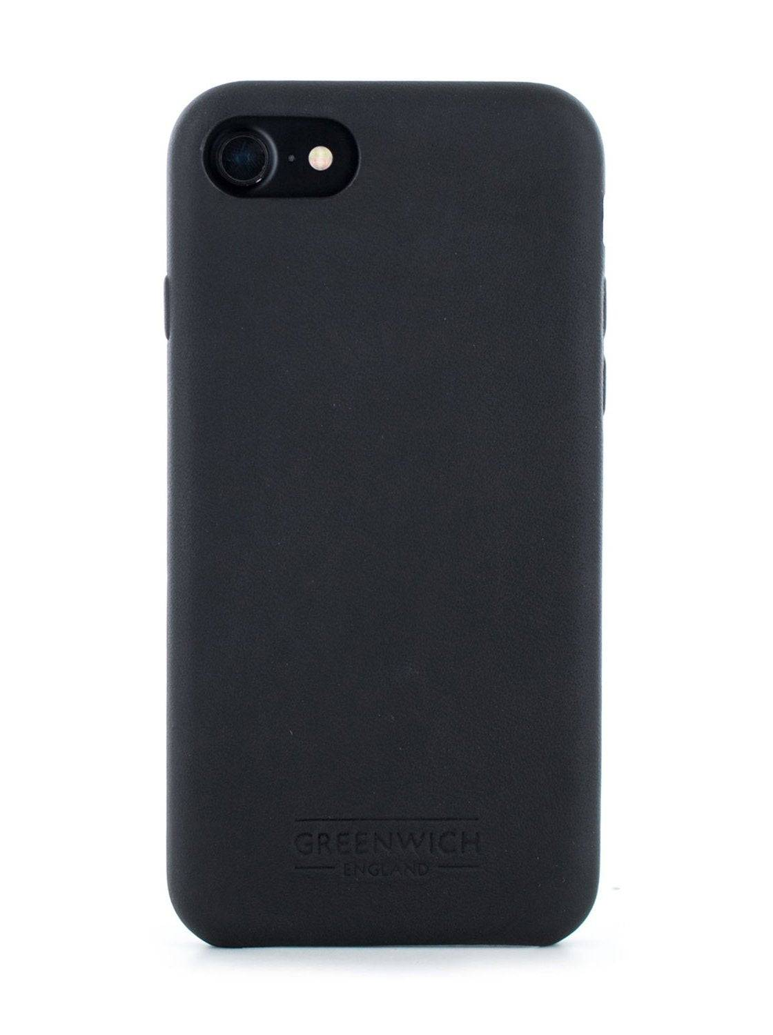 Greenwich AEON Luxury Leather Back Shell for iPhone SE (2020) / 8 / 7 / 6 In Beluga (Black)