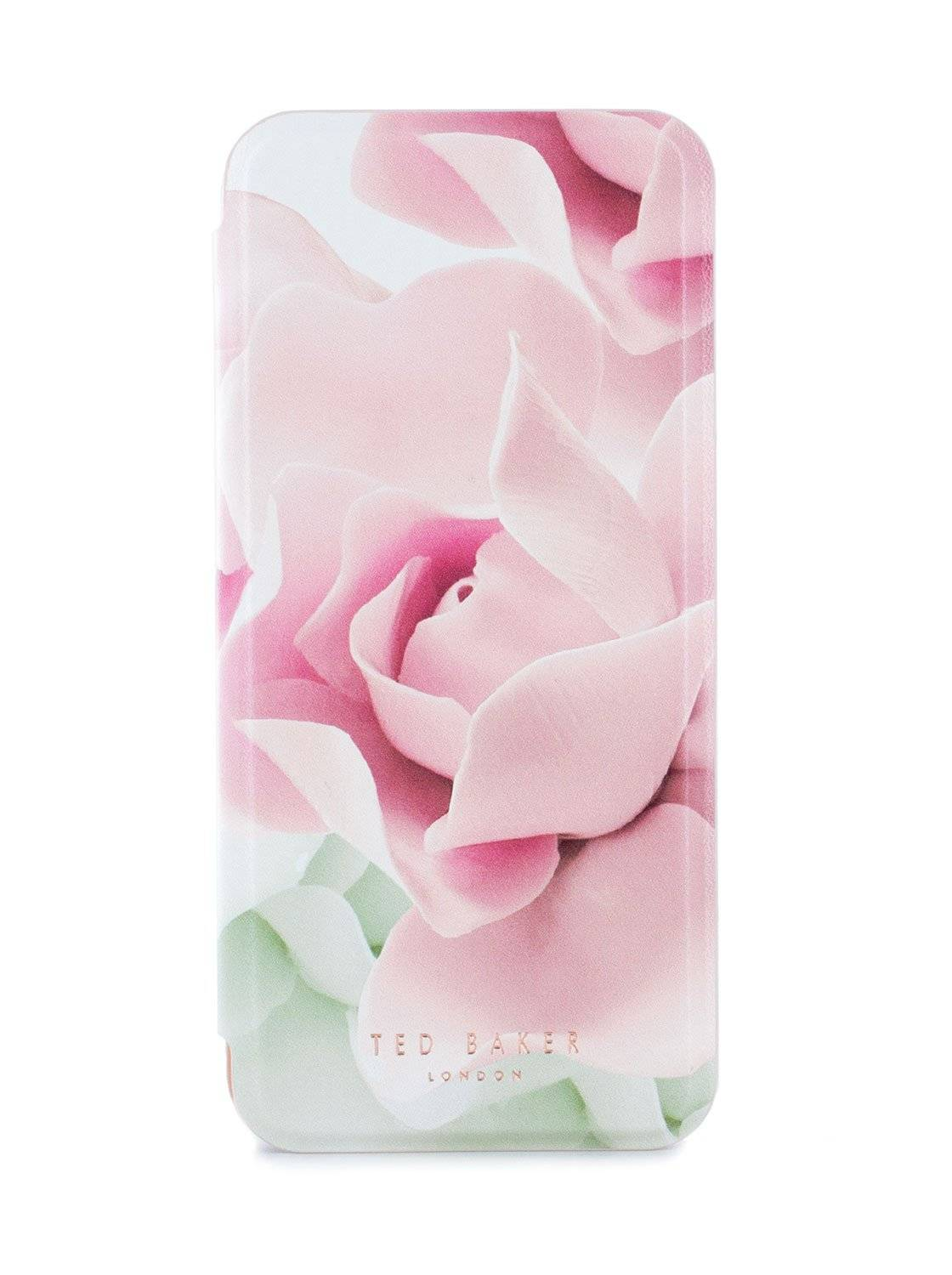 Ted Baker KNOWAI Mirror Folio Case for Samsung Galaxy S8 - Porcelain Rose (Nude)