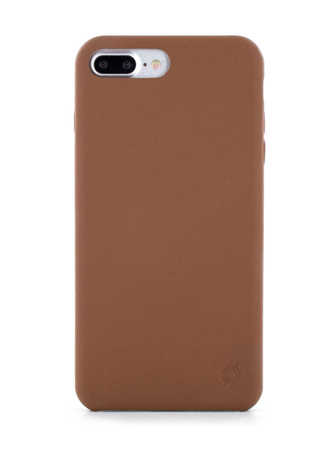 Greenwich AEON Luxury Leather Back Shell for iPhone 8 Plus / 7 Plus In Saddle (Brown)