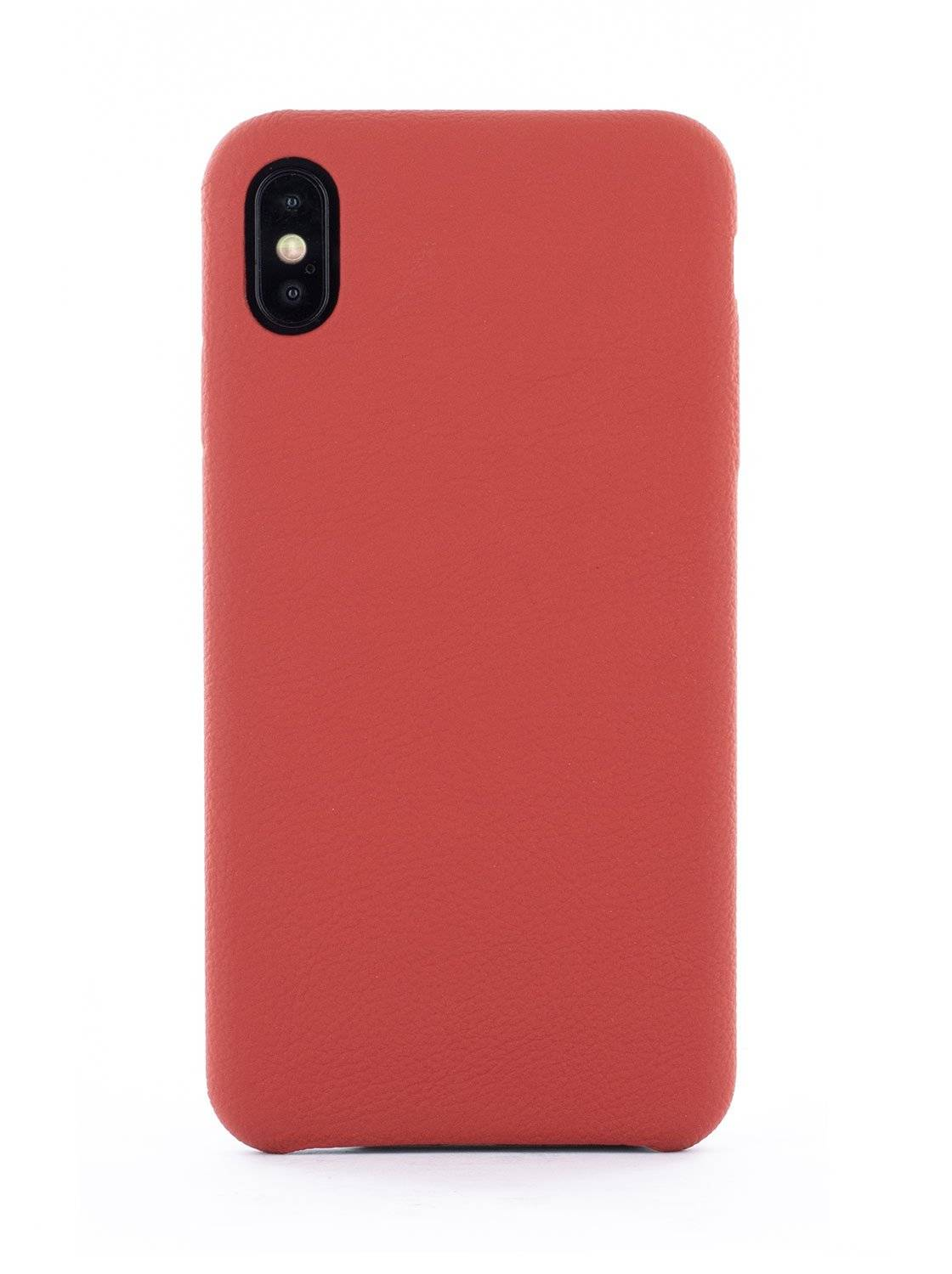 Greenwich AEON Luxury Leather Wrapped Back Shell for iPhone XS Max - Red