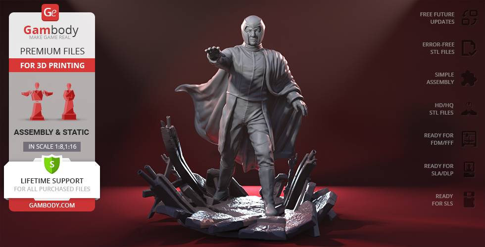 Gambody Magneto 3D Printing Figurine   Assembly