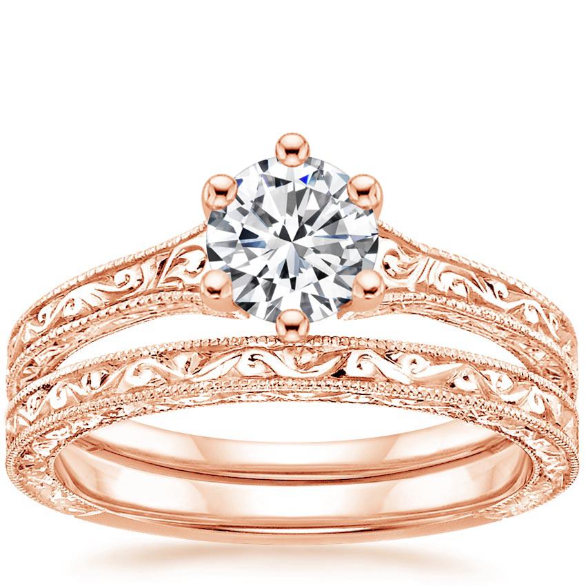 14K Rose Gold Hudson Bridal Set