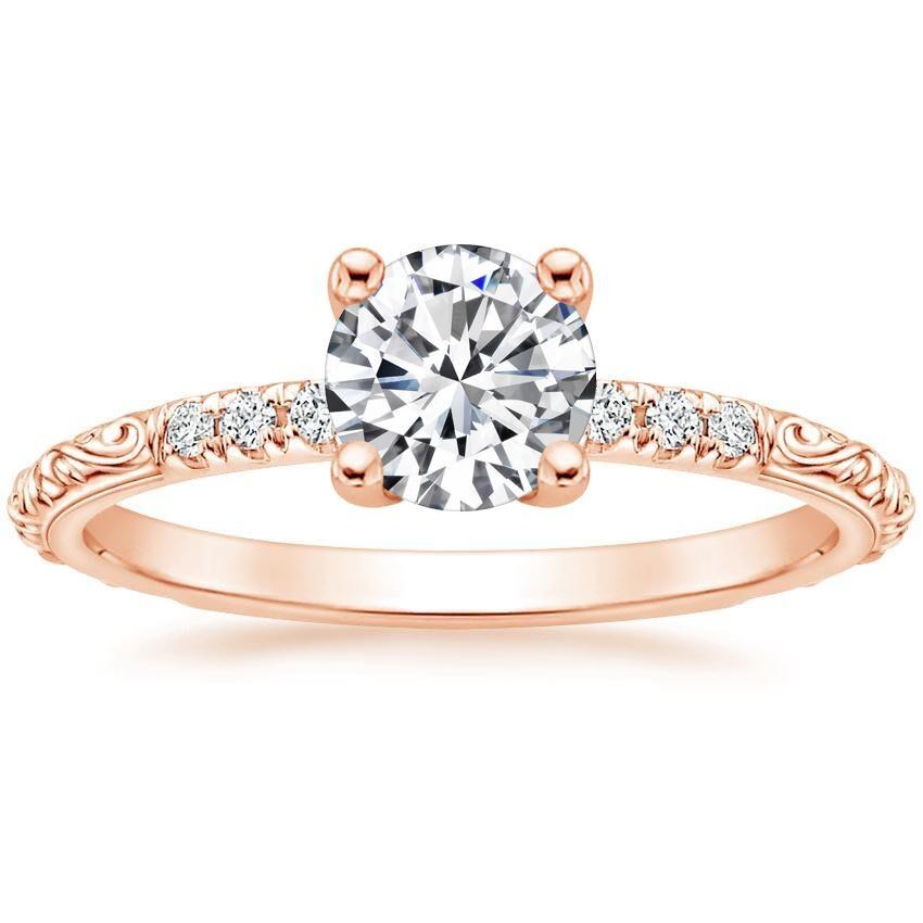 14K Rose Gold Adeline Diamond Ring