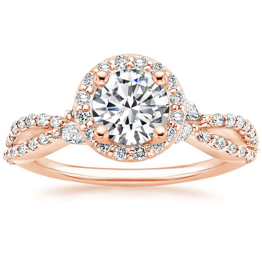 14K Rose Gold Luxe Willow Halo Diamond Ring (2/5 ct. tw.)