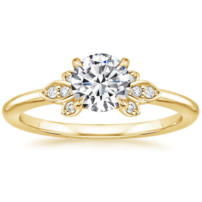 18K Yellow Gold Fiorella Diamond Ring
