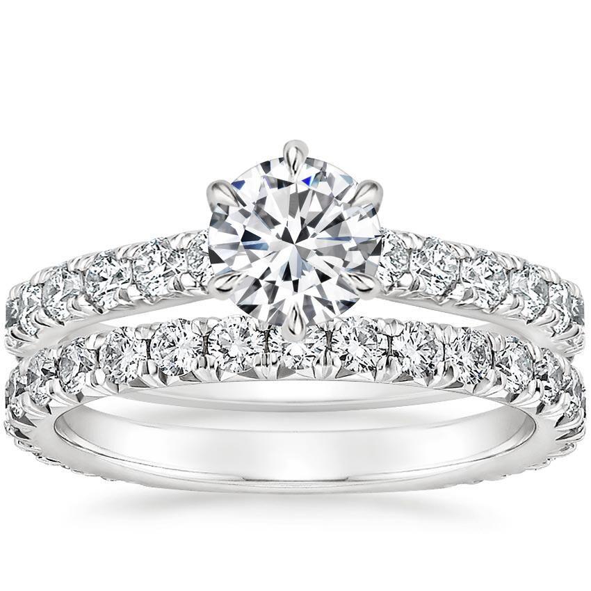 18K White Gold Luxe Sienna Diamond Bridal Set (1 1/8 ct. tw.)