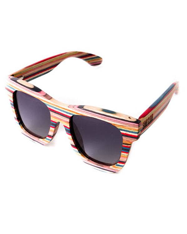 SandCloud Colored Wood Frame Sunglasses