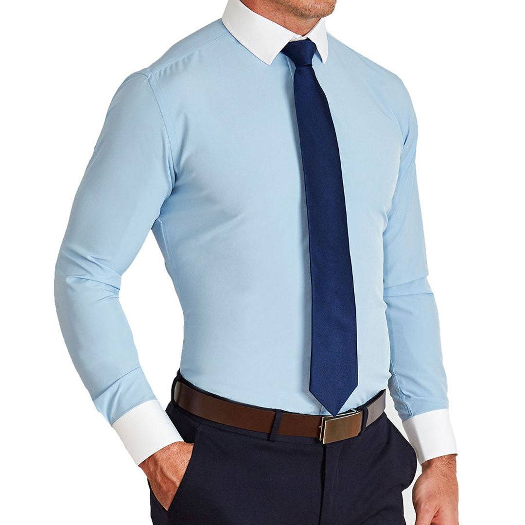 """StateLiberty """"The Clark"""" Light Blue with White Collar"""