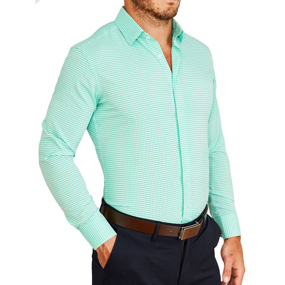 """StateLiberty """"The Charley"""" Mint Green Gingham"""