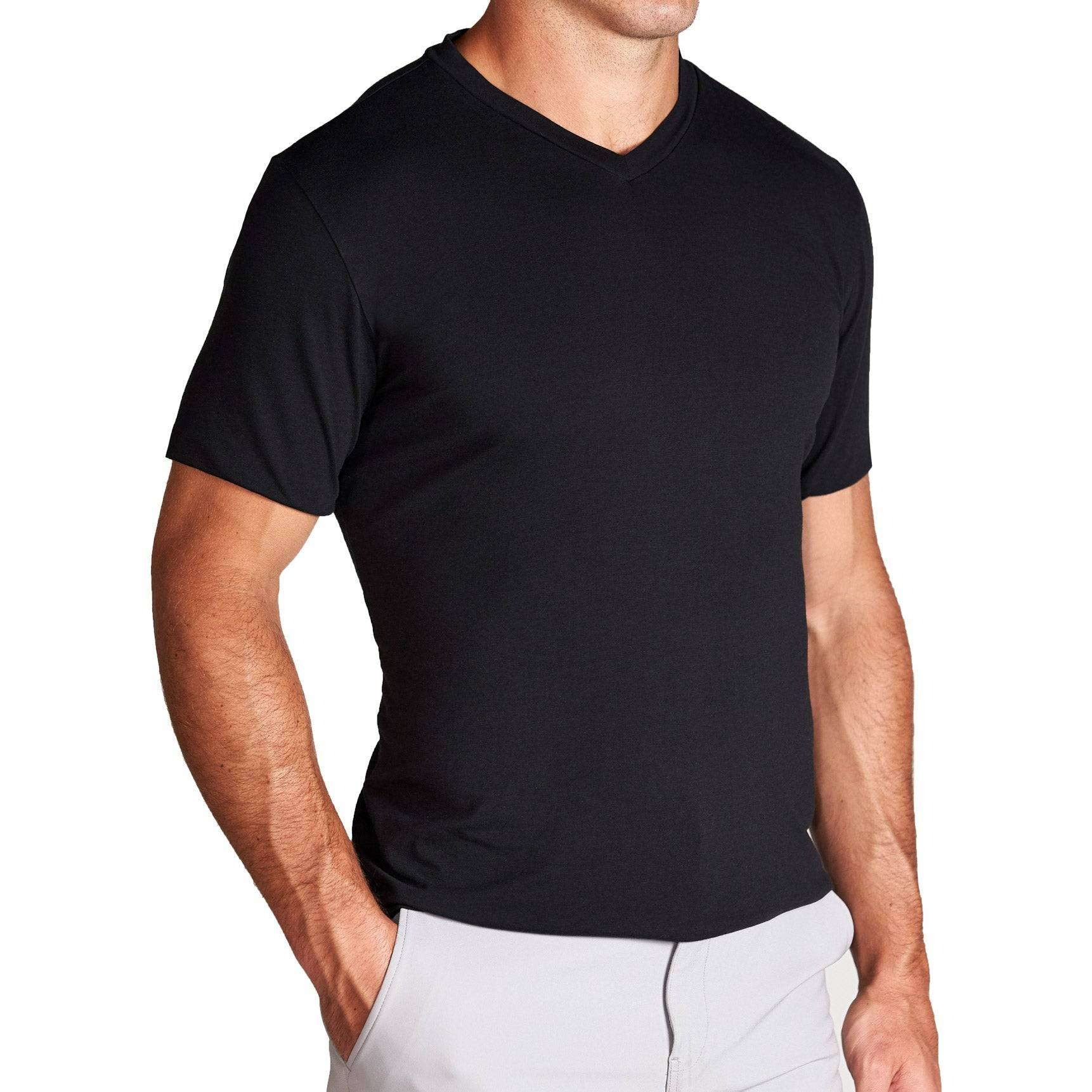 "StateLiberty ""The Asher"" Black Short Sleeve V-Neck"