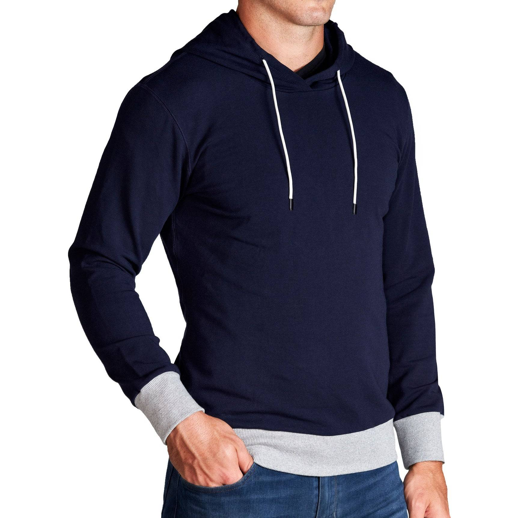 StateLiberty Navy Hoodie with Grey Accents