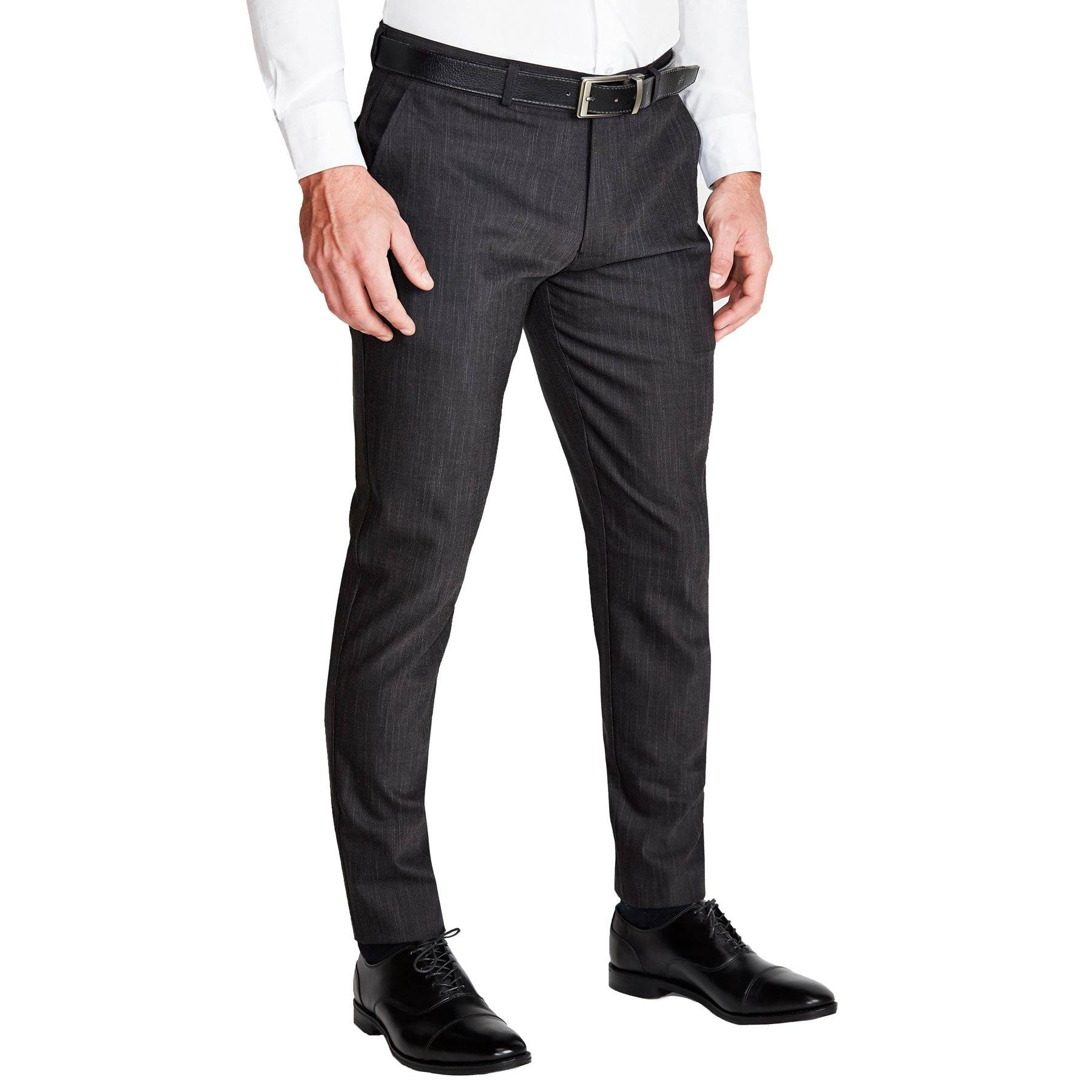 StateLiberty Athletic Fit Stretch Suit Pants - Heathered Charcoal