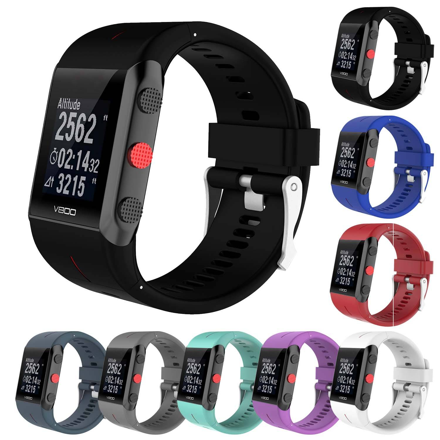 Strapsco Replacement Band for Polar v800 GPS Sports Watch