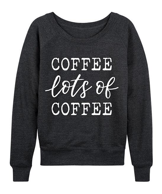 Instant Message Women's Women's Sweatshirts and Hoodies HEATHER - Heather Charcoal 'Lots of Coffee'