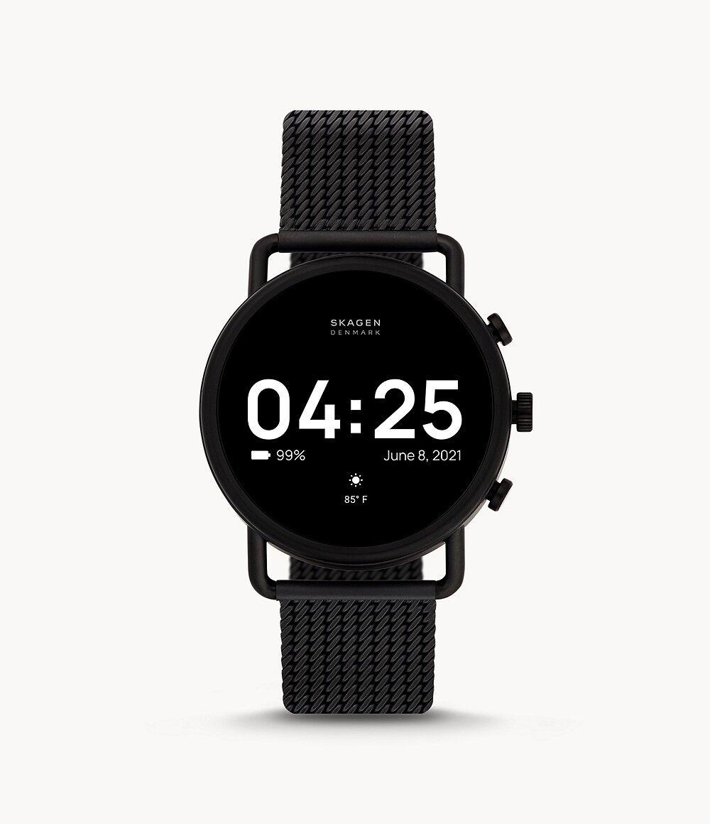Skagen Unisex Smartwatch Hr - Falster 3 X By Kygo Stainless Steel - Black