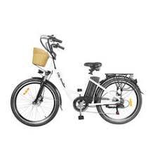 NAKTO StrollerWhite 26 in. City Electric Bicycle Stroller, White