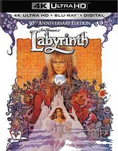 Sony COL BR47852 Labyrinth 30th Anniversary Color Blu Ray with 4K-Ultra HD Mastered & Ultraviolet