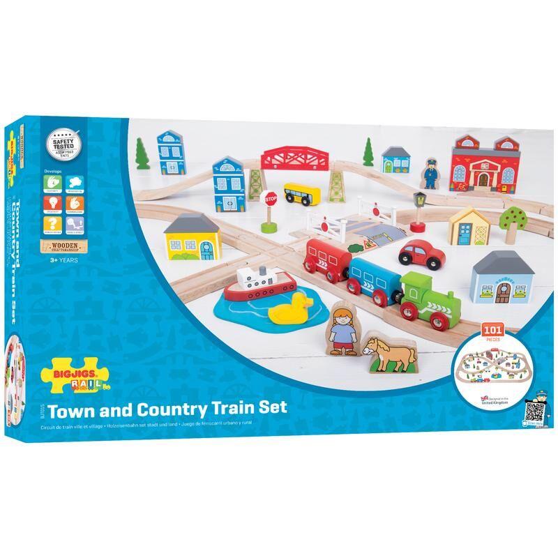 Bigjigs Toys BJT015 Rail Town & Country Train Set