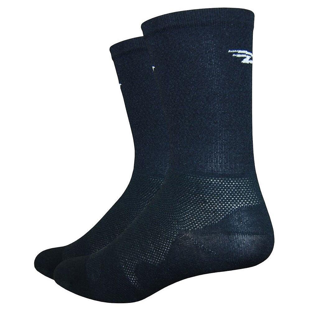 """Defeet Leviator Lite 6"""" Socks - M - Black"""