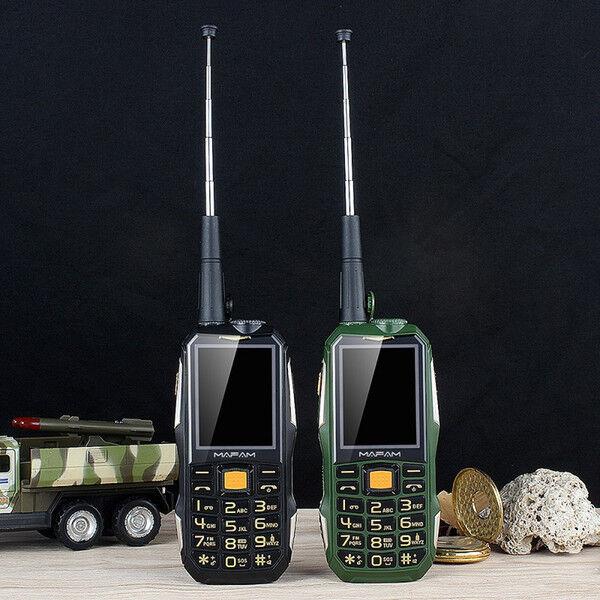 DHgate unlocked mafam m2+ rugged shockproof outdoor mobile phone with uhf hardware intercom walkie t