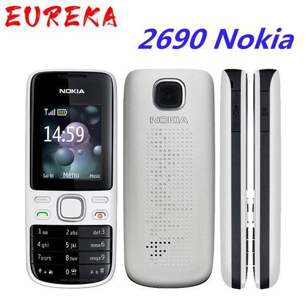 DHgate 2690 nokia original unlocked 2690 mobile phones internal 3mb gsm sms mms email bar cellphones