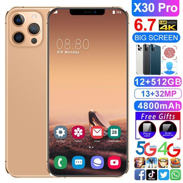 DHgate 2021 original smartphone mobile phone x30pro 6.7 inch 10 core 5800mah unlock global version 4