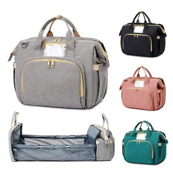 DHgate 3-in-1 portable baby changing platform diaper bag foldable bassinet crib mommy bag travel cri