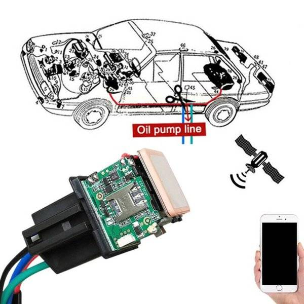 DHgate motorcycle car relay gps tracker hide tracking device cut off oil towed away acc status alarm