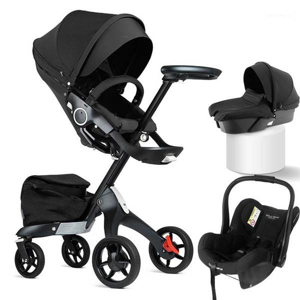 DHgate 3 in 1 baby stroller luxury high land scape dsland sitting mom coches para bassinet 3 in 1 st