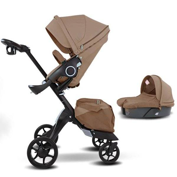 DHgate strollers# baby luxury stroller 3 in 1luxury high land scape sitting pram buggy bassinet for
