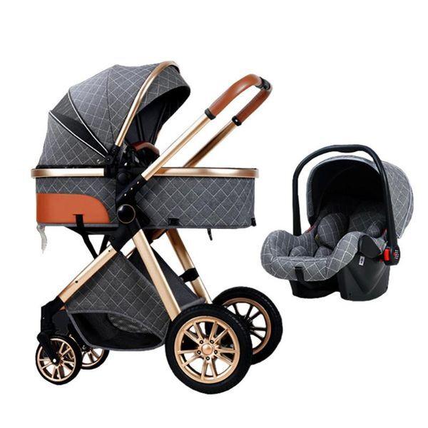 DHgate stroller 3 in 1 travel baby carriages folding prams triciclo infantil portable kinderwagen ca