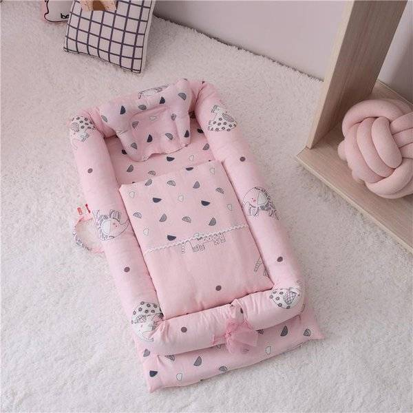 DHgate baby cribs double-layer yarn cotton bed, crib pressure-proof multifunctional infant and born