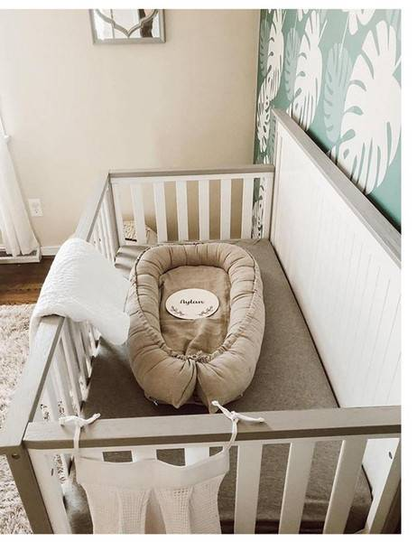 DHgate baby nest bed portable soft crib travel bed baby bumper infant toddler cotton cradle for newb