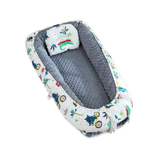 DHgate dismountable baby nest bed portable crib born travel sleeper double-sided child toddlers bass