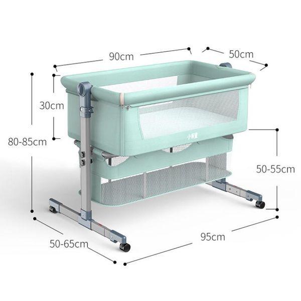 DHgate baby cribs crib portable bassinet born rocking bed foldable adjustable nest cot nursery furni