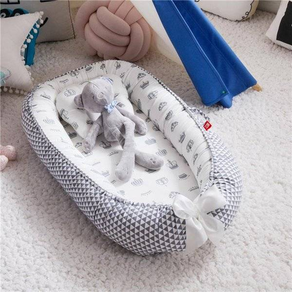 DHgate born portable baby nest bed crib toddler cotton detachable girls travel boy infant cradle bas