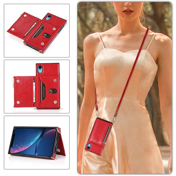 DHgate suitable for female leather xr case, multi-function cover diagonal zipper protective type wal