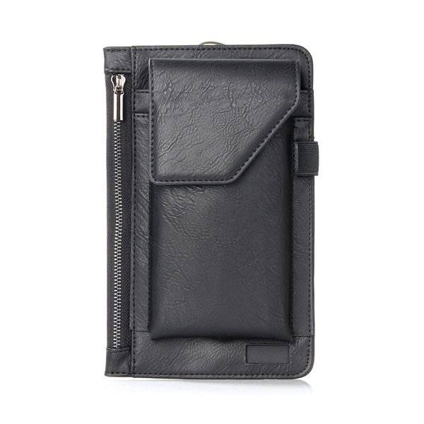 DHgate solid wallet-style men's leather zipper apple for android case multifunctional universal moun