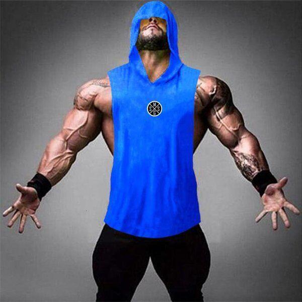 DHgate clothing bodybuilding brand fashion men cotton sleeveless shirts tank fitness sport singlet w