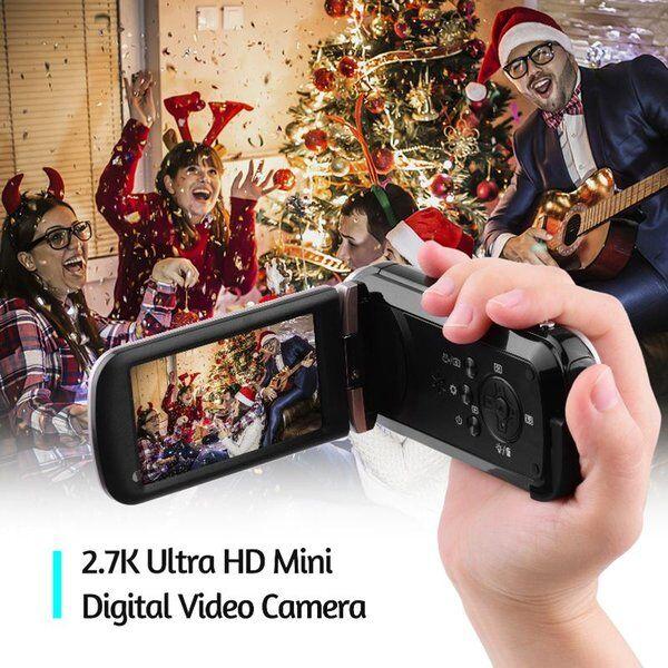 DHgate camcorders 2.7k ultra hd mini digital video camera dv camcorder 48mp 3 inch rotatable lcd tou