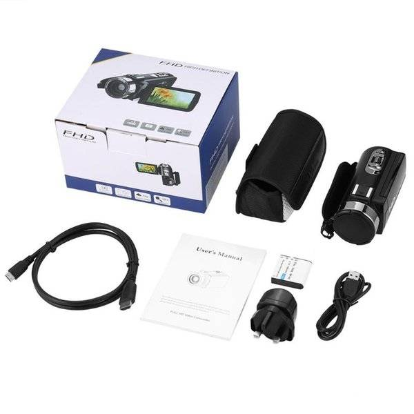 DHgate camcorders uk plug full hd 1080p hdv-305s easy take digital video camera 3.0 inch rasistive s