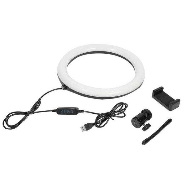 DHgate camcorders pography dimmable led selfie ring light youtube video live 3500-5500k po studio wi