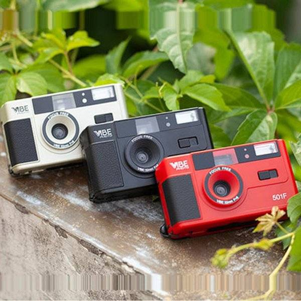 DHgate digital cameras german vibe 501f camera reusable non-disposable retro film 135 fool with flas