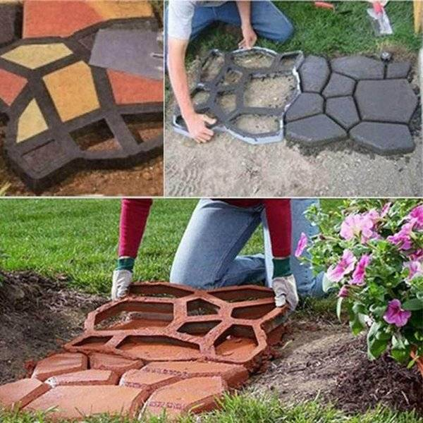 DHgate other garden buildings diy pavement mold path making manually paving cement brick tool steppi
