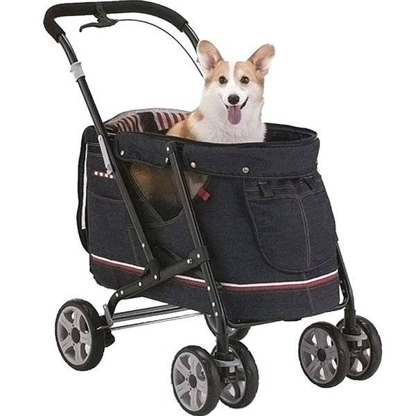 DHgate dog car seat covers pet cart folding four-wheeled teddy portable ultra-lightweight washable c
