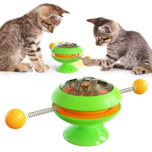 DHgate pet supplies turntable cat toy funny stick fighting catnip ball toys