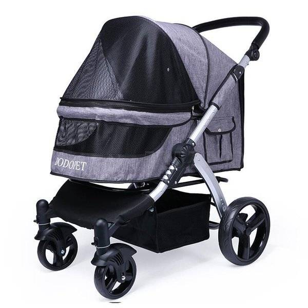 DHgate dog car seat covers luxury pet stroller cart out medium-sized large first class to increase f
